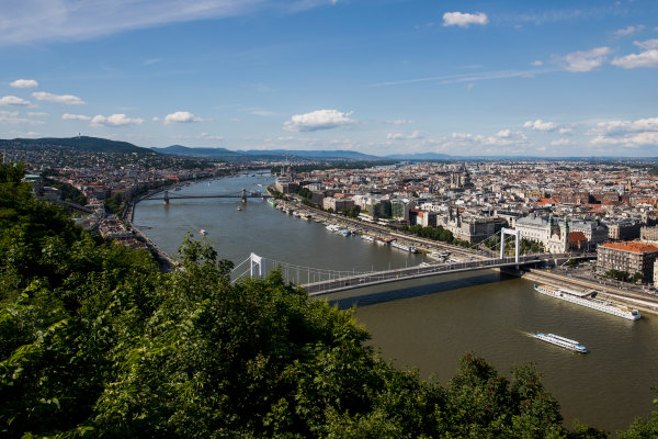 Hungaroring, Budapest, Hungary. Monday 5 June 2017. A view of the city from Citadella. World Copyright: Zak Mauger/LAT Images ref: Digital Image _56I0524