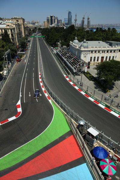 Baku City Circuit, Baku, Azerbaijan. Friday 23 June 2017. Pascal Wehrlein, Sauber C36-Ferrari. World Copyright: Charles Coates/LAT Images ref: Digital Image AX0W5168