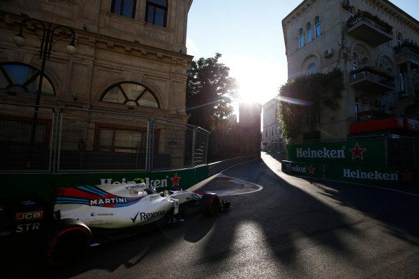 Baku City Circuit, Baku, Azerbaijan. Friday 23 June 2017. Lance Stroll, Williams FW40 Mercedes.  World Copyright: Andy Hone/LAT Images ref: Digital Image _ONZ6330