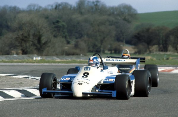Jonathan Palmer (GBR), Ralt RH6/83-Honda, finished third.European Formula Two Championship, Rd2, Thruxton, England, 4 April 1983.
