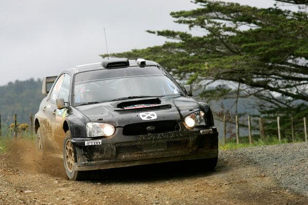 New Zealand Rally.16th-19th November 2006.Valentino Rossi, Subaru, action.World Copyright: McKlein/LAT