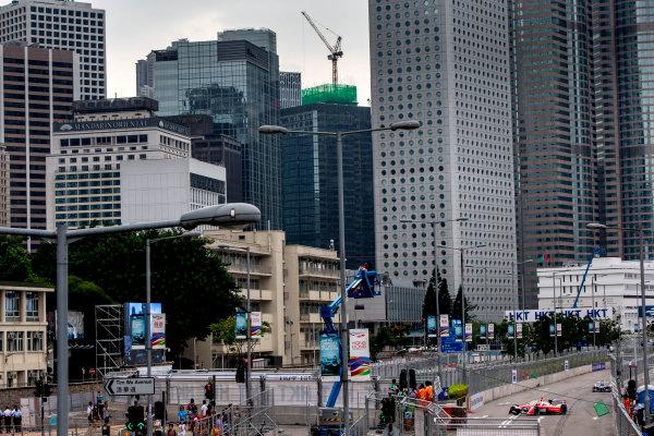 2016/2017 FIA Formula E Championship. Hong Kong ePrix, Hong Kong, China. Saturday 8 October 2016. Felix Rosenqvist (SWE), Mahindra Racing, Spark-Mahindra, Mahindra M3ELECTRO.  Photo: Zak Mauger/LAT/Formula E ref: Digital Image _L0U0543