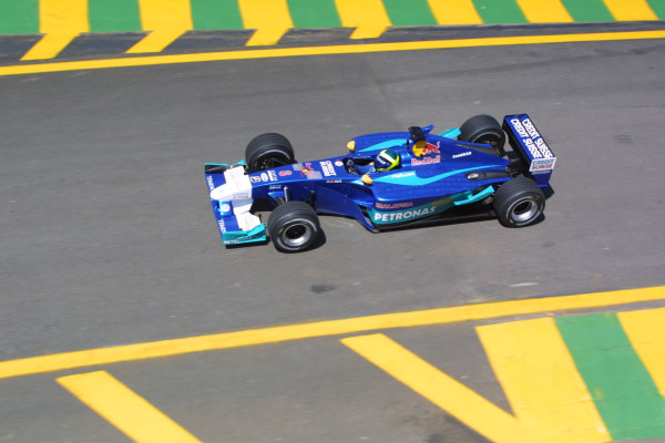 2002 Brazilian Grand Prix - Friday PracticeInterlagos, Sao Paulo. 29th March 2002Felipe Massa (Sauber C21 Petronas). World Copyright - LAT Photographicref: Digital File Only
