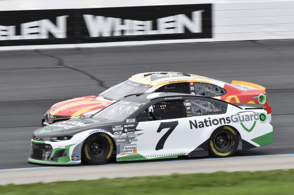 #7: Corey LaJoie, Spire Motorsports, Chevrolet Camaro Nations Guard, #23: Bubba Wallace, 23XI Racing, Toyota Camry McDonald's