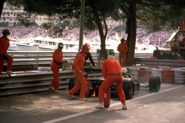 Monte Carlo, Monaco.4-7 May 1989.Philippe Alliot (Lola LC89 Lamborghini). He retired with an engine failure.Ref-89 MON 24.World Copyright - LAT Photographic