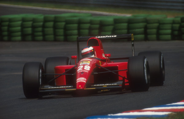 1991 German Grand Prix.Hockenheim, Germany.26-28 July 1991.Jean Alesi (Ferrari 643) 3rd position.Ref-91 GER 01.World Copyright - LAT Photographic