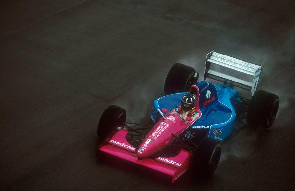 1992 British Grand Prix.Silverstone, England.10-12 July 1992.Damon Hill (Brabham BT60B Judd) 16th position on his Grand Prix debut.Ref-92 GB 20.World Copyright - LAT Photographic