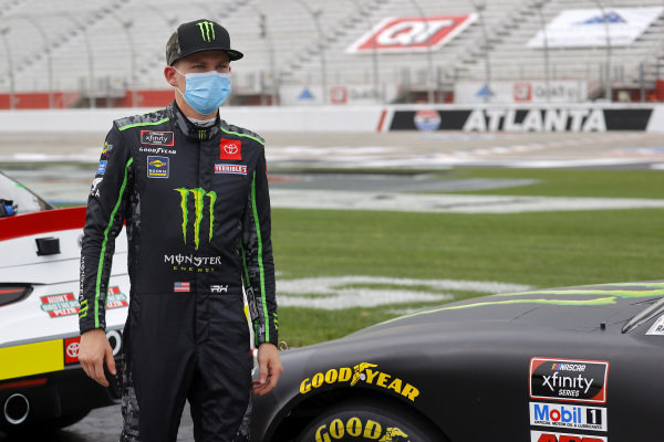 Riley Herbst, Joe Gibbs Racing Toyota Monster Energy, Copyright: Chris Graythen/Getty Images.