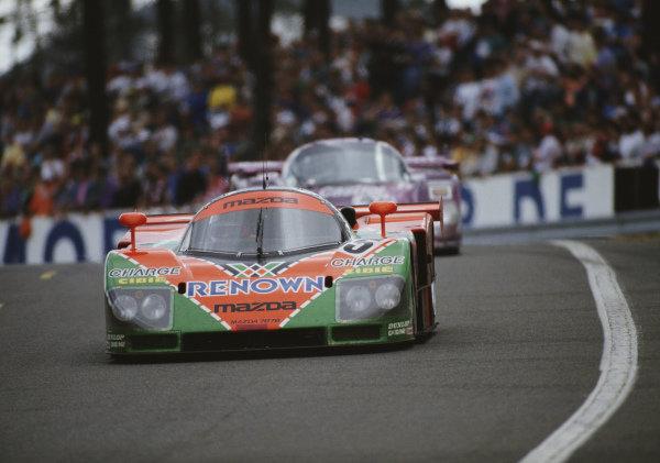 Volker Weidler / Johnny Herbert / Bertrand Gachot, Mazdaspeed, Mazda 787B.