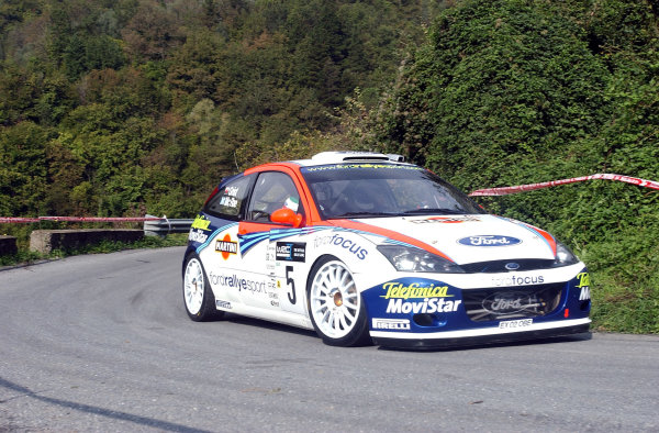 2002 World Rally Championship.Rallye d'Italia, 20-22 September.Sanremo, Italy.Colin McRae during shakedown.Photo: Ralph Hardwick/LAT