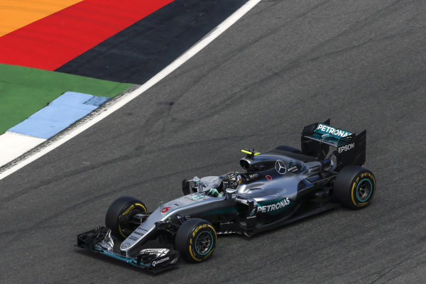 Nico Rosberg (GER) Mercedes-Benz F1 W07 Hybrid at Formula One World Championship, Rd12, German Grand Prix, Practice, Hockenheim, Germany, Friday 29 July 2016.