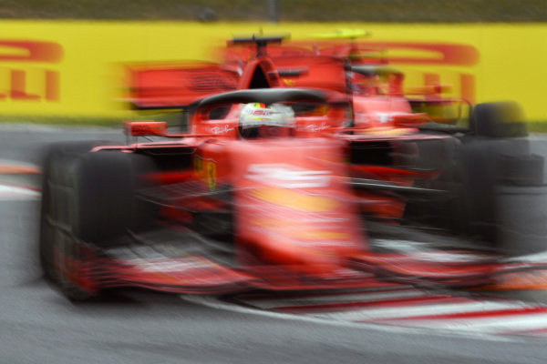 Sebastian Vettel, Ferrari SF90 and Charles Leclerc, Ferrari SF90