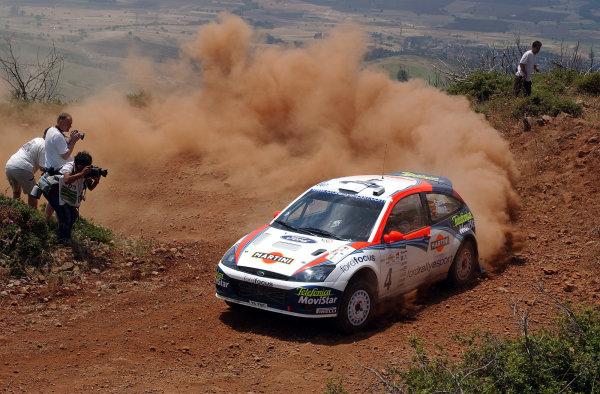 World Rally Championship, Acropolis Rally, June 13-16, 2002.Carlos Sainz on stage 3.Photo: Ralph Hardwick/LAT