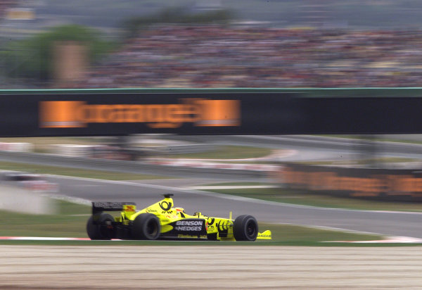 2001 Spanish Grand PrixCatalunya, Barcelona, Spain. 27-29 April 2001.Jarno Trulli (Jordan EJ11 Honda) 4th position.World Copyright - Steve Etherington/LAT Photographicref: 18 mb Digital Image