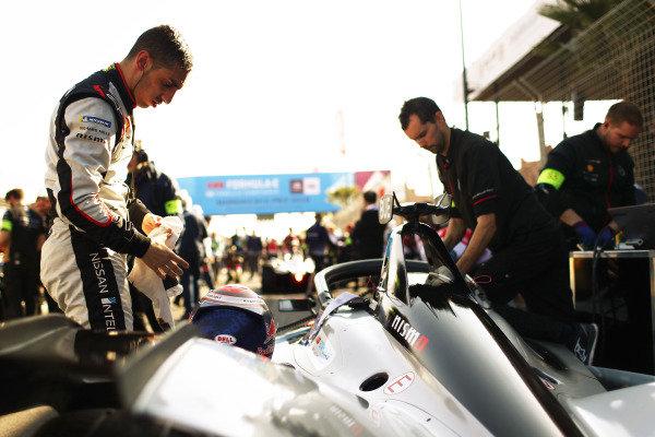 Sébastien Buemi (CHE), Nissan e.Dams, on the grid