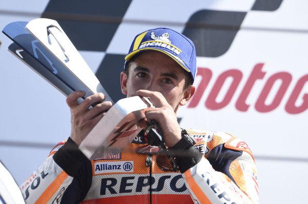 Podium: second place Marc Marquez, Repsol Honda Team.