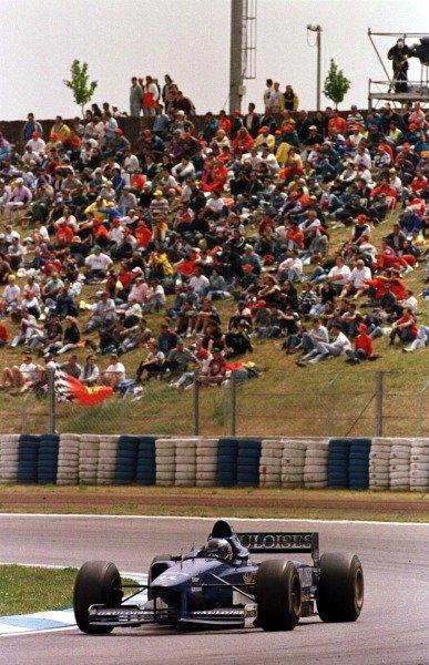1997 Spanish Grand Prix.Catalunya, Barcelona, Spain.23-25 May 1997.Olivier Panis (Prost JS45 Mugen Honda) 2nd position.World Copyright - Elford/LAT Photographic