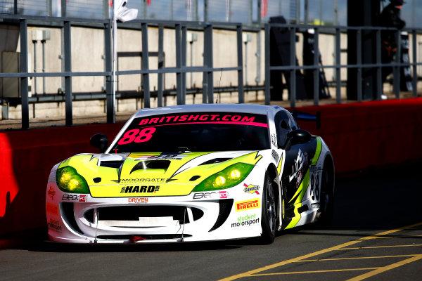 2018 British GT Championship, 9th March 2018, Donington Park, England UK. Ben Wallace / Nick Worm Team HARD. Racing Ginetta G55 GT4 World copyright. JEP/LAT Images