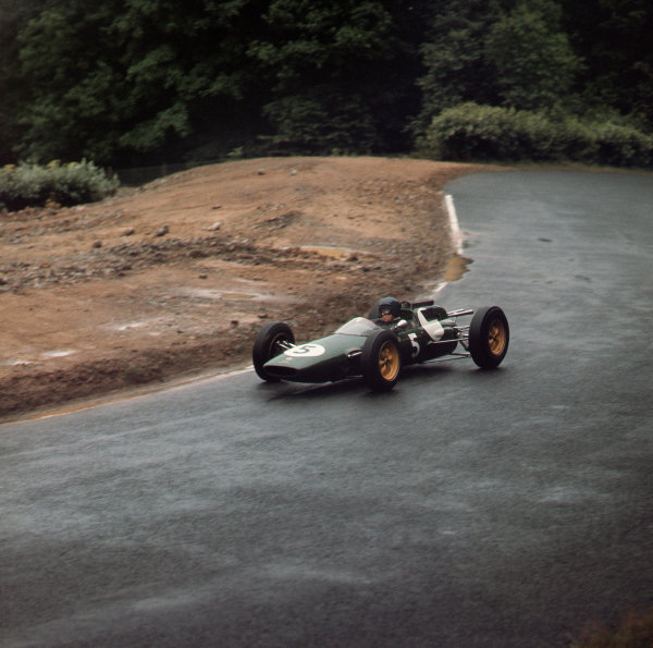 Nurburgring, Germany.3-5 August 1962.Jim Clark (Lotus 25 Climax) 4th position.Ref-3/0611A.World Copyright - LAT Photographic