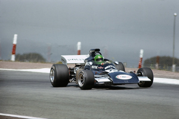 1972 Spanish Grand Prix.  Jarama, Madrid, Spain. 29th April - 1st May 1972.  Henri Pescarolo, March 721 Ford, sideways on his way to 11th position.  Ref: 72ESP52. World Copyright: LAT Photographic