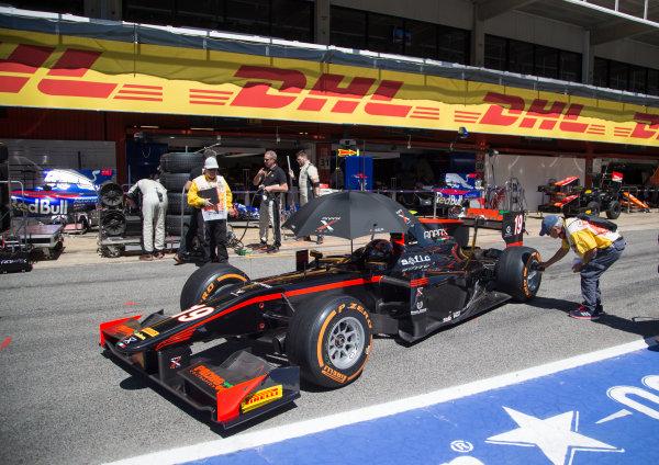 2017 FIA Formula 2 Round 2. Circuit de Catalunya, Barcelona, Spain. Friday 12 May 2017. Johnny Cecotto Jr. (VEN, Rapax)  Photo: Jed Leicester/FIA Formula 2. ref: Digital Image JL1_9134