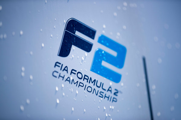 2017 FIA Formula 2 Round 2. Circuit de Catalunya, Barcelona, Spain. Thursday 11 May 2017. FIA Formula 2 logo. Photo: Zak Mauger/FIA Formula 2. ref: Digital Image _54I6805