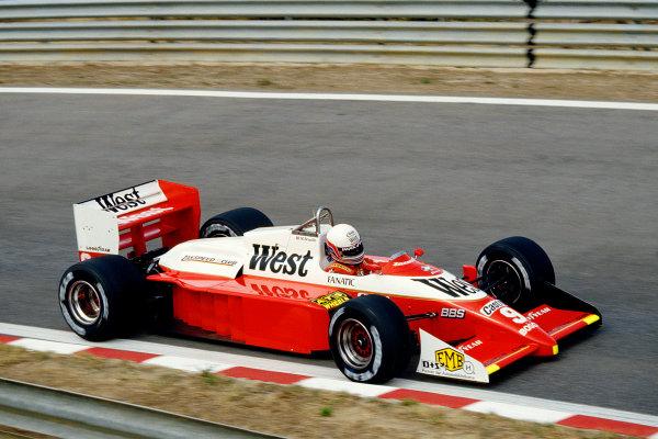 Estoril, Portugal.18-20 September 1987.Martin Brundle (Zakspeed 871).Ref-87 POR 28.World Copyright - LAT Photographic