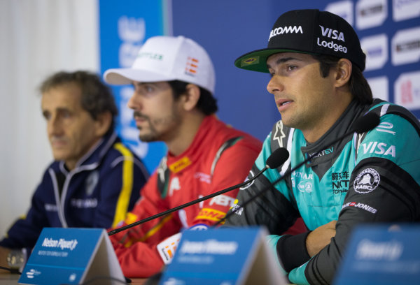 FIA Formula E Championship 2015/16. Beijing ePrix, Beijing, China. Next EV's Nelson Piquet Jr during the Press conference  Beijing, China, Asia. Friday 23 October 2015 Photo:  / LAT / FE ref: Digital Image _L2_0029