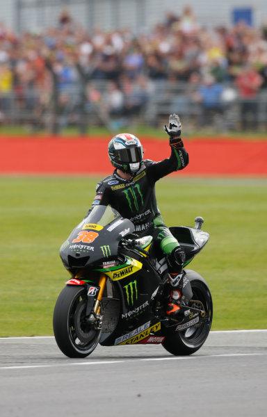 2015 MotoGP Championship.  British Grand Prix.  Silverstone, England. 28th - 30th August 2015.  Bradley Smith, Tech 3 Yamaha.  Ref: KW7_7254a. World copyright: Kevin Wood/LAT Photographic