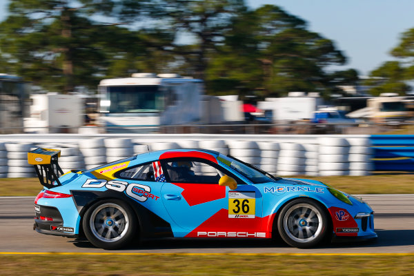 2017 Porsche GT3 Cup USA Sebring International Raceway, Sebring, FL USA Wednesday 15 March 2017 36, Michael Levitas, GT3G, USA, 2015 Porsche 991 World Copyright: Jake Galstad/LAT Images ref: Digital Image lat-galstad-SIR-0317-14878