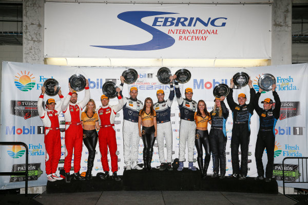 19-21 March, 2015, Sebring, Florida, USA GTD class podium ©2015, Michael L. Levitt LAT Photo USA