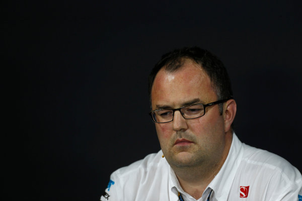 Nurburgring, Germany 5th July 2013 Tom McCullough, Head of Track Engineering, Sauber F1, in the Friday Press Conference World Copyright: Charles Coates/  ref: Digital Image _N7T9100