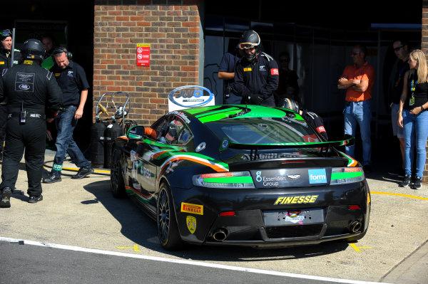 2016 British GT Championship, Snetterton, Norfolk, 6th-7th August 2016, Kieran Griffin / Jake Giddings JW Bird Motorsport Aston Martin Vantage GT4  World Copyright. Jakob Ebrey/LAT Photographic.