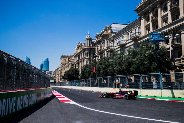 2017 FIA Formula 2 Round 4. Baku City Circuit, Baku, Azerbaijan. Friday 23 June 2017. Nyck De Vries (NED, Rapax)  Photo: Zak Mauger/FIA Formula 2. ref: Digital Image _54I9364