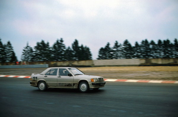 Ayrton Senna (BRA) won the race The race was held to mark the opening of the new Nurburgring circuit. Mercedes-Benz 190E 2.3-16 Cup, Nurburgring 12 May 1984