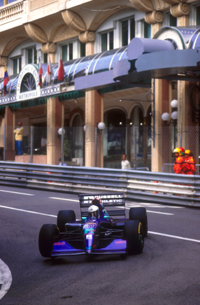 1994 Monaco Grand Prix.Monte Carlo, Monaco.12-15 May 1994.David Brabham (Simtek S941 Ford) at Mirabeau. He exited the race after being hit by Alesi.Ref-94 MON 02.World Copyright - LAT Photographic