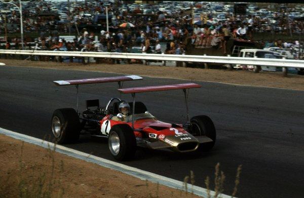 1969 South African Grand Prix.Kyalami, South Africa.27/2-1/3 1969.Jochen Rindt (Lotus 49B Ford).Ref-69 SA 33.World Copyright - LAT Photographic