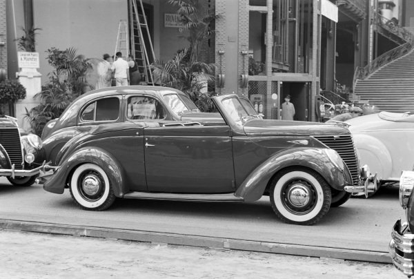 Ford V8 coupe convertible.