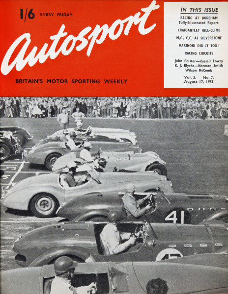 Cover of Autosport magazine, 17th August 1951