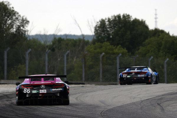 #86 Meyer Shank Racing w/Curb-Agajanian Acura NSX GT3, GTD: Mario Farnbacher, Matt McMurry, #57 Heinricher Racing w/MSR Curb-Agajanian Acura NSX GT3, GTD: Alvaro Parente, Misha Goikhberg