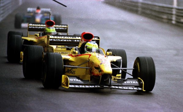 1997 Monaco Grand Prix.Monte Carlo, Monaco.8-11 May 1997.Giancarlo Fisichella (Jordan 197 Peugeot) 6th position at Tabac.World Copyright - LAT Photographic
