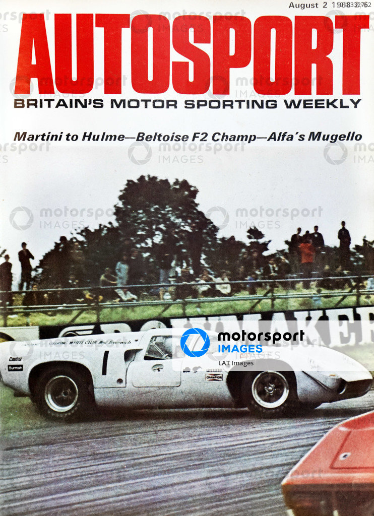Cover of Autosport magazine, 2nd August 1968
