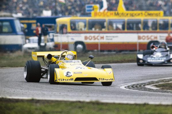 Harald Ertl, Chevron B27 BMW, gets sideways.