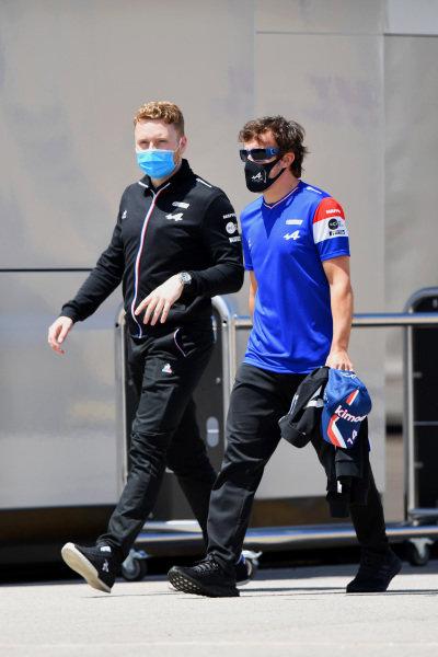 Fernando Alonso, Alpine F1, in the paddock