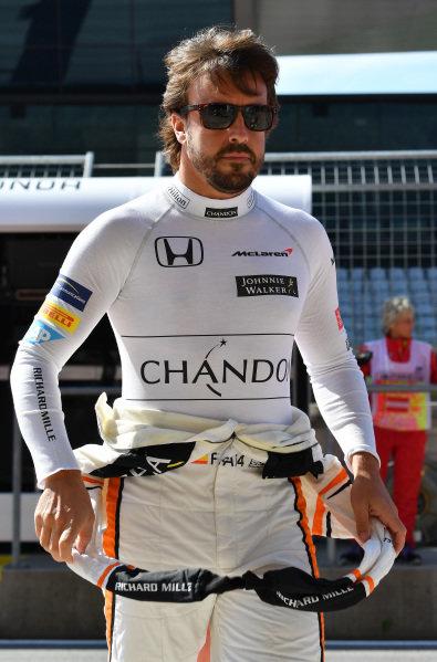 Fernando Alonso (ESP) McLaren at Formula One World Championship, Rd9, Austrian Grand Prix, Practice, Spielberg, Austria, Friday 7 July 2017.