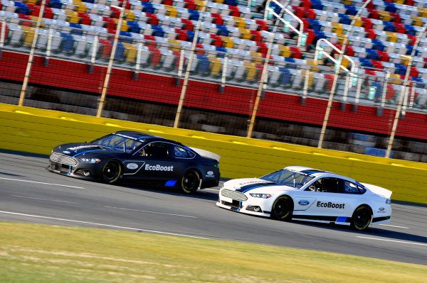 24 January, 2012, Concord, North Carolina, USAGreg Biffle, and Ricky Stenhouse Jr run laps at the unveiling of the 2013 Ford Fusion which will compete in the NASCAR Sprint Cup Series in 2013.(c)2012, LAT SouthLAT Photo USA