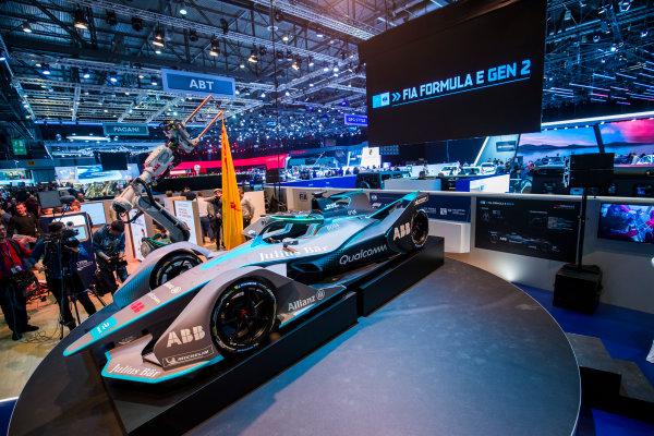2017/2018 FIA Formula E Championship. Geneva Motor Show Tuesday 6 March 2018. The FIA Formula-E Gen2 car is unveiled. Photo: Sam Bloxham/LAT/Formula E ref: Digital Image _W6I3901