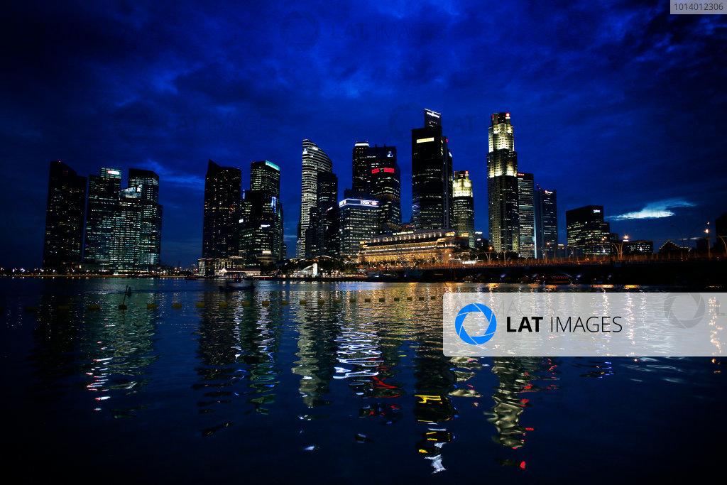 Marina Bay Circuit, Singapore. 18th September 2013. The cityscape of Singapore. World Copyright: Steven Tee/LAT Photographic. ref: Digital Image _14P2528