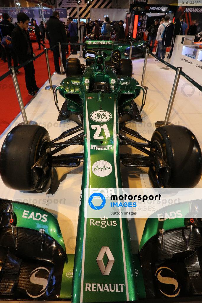 Caterham F1 Show Car. Autosport International Show, NEC, Birmingham, England, Day One, 9 January 2014.
