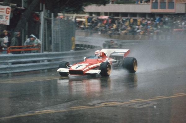 1972 Monaco Grand Prix.  Monte Carlo, Monaco. 11-14th May 1972.  Clay Regazzoni, Ferrari 312B2.  Ref: 72MON63. World Copyright: LAT Photographic